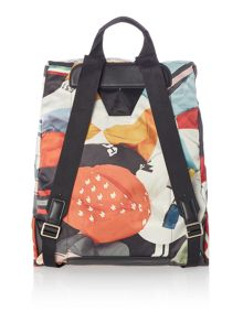 Paul Smith London Cycle caps print backpack