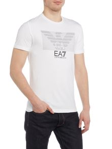 EA7 Large Graphic Crew Neck T-shirt