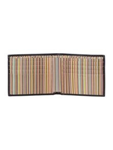 Paul Smith London Internal multistripe embossed billfold wallet