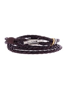 Paul Smith London Leather Wrap Bracelet