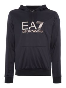 EA7 Visibility Large Logo Hooded Sweatshirt