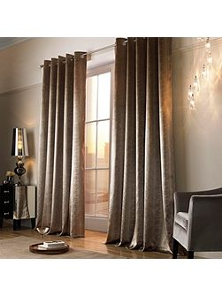 Adelphi Caramel Lined Eyelet Curtains 90x90