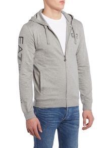 EA7 Arm Logo Hooded Sweatshirt