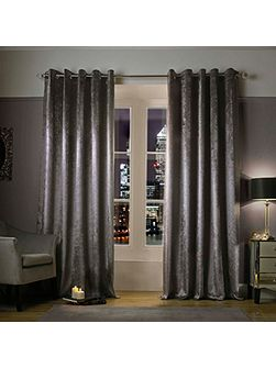 Adelphi Truffle Lined Eyelet Curtains 90x90