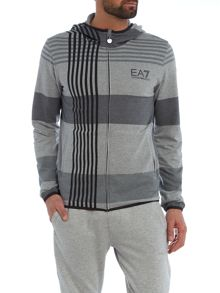 EA7 Graphic Full Zip Hooded Sweatshirt