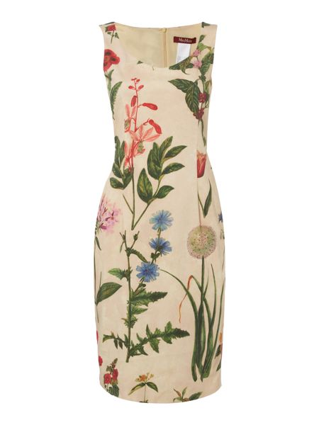 Max Mara Cera flower detail sleeveless dress