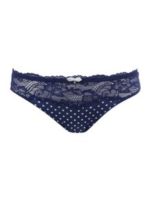 Marie Meili Curves clarice lace spot brief