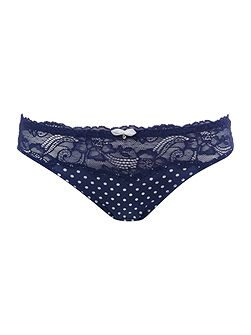 Curves clarice lace spot brief