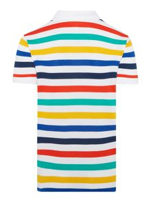 Lacoste Boys Multi coloured stripe pique polo