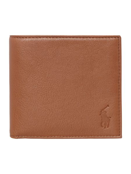 Polo Ralph Lauren Billfold pebble leather wallet with coin pocket