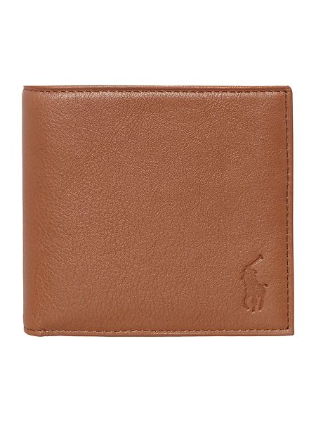 768a4a530dad Polo Ralph Lauren Pebbled Leather Billfold Wallet With Coin Pocket ...