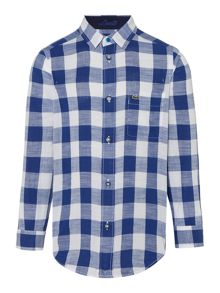 Lacoste Boys Large gingham check shirt