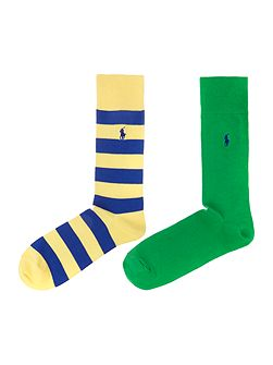 2 pack stripe and plain sock set
