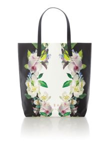 Ted Baker Lindsey black floral large tote bag