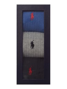Polo Ralph Lauren 3 pack ribbed sock set