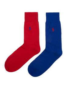 Polo Ralph Lauren 2 pack mercerised sock