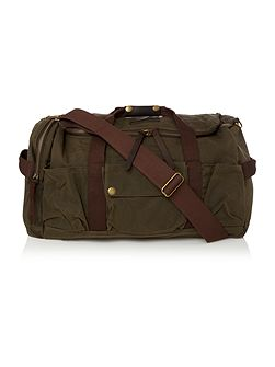 Barbour Waxed cotton duffle bag
