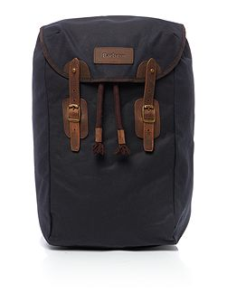 Waxed leather backpack