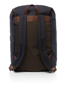 Barbour Waxed leather backpack