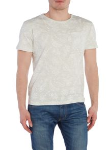 Bellfield Hitchen regular fit tonal floral print t-shirt
