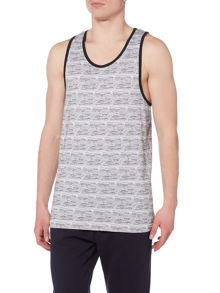 Bellfield House regular fit fine stripe vest