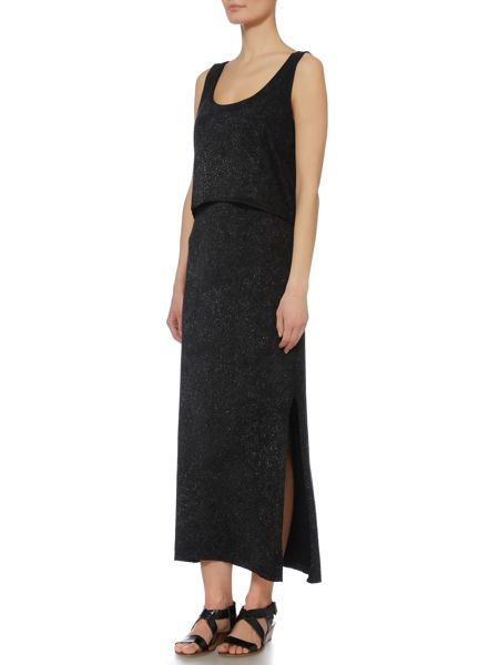 Label Lab Paint spray jersey maxi dress