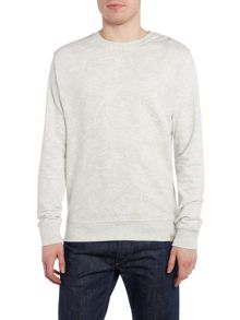 Bellfield Polo regular fit floral marl crew neck sweatshirt