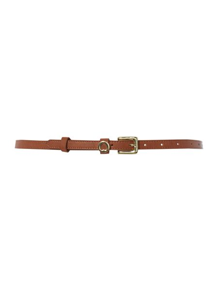 Therapy Therapy skinny heart charm belt