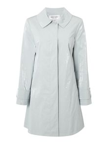 Helene Berman Coated linen swing coat