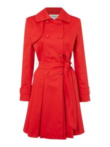 Full skirted trench coat