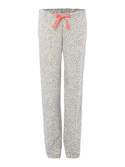 Carved floral viscose pyjama pant