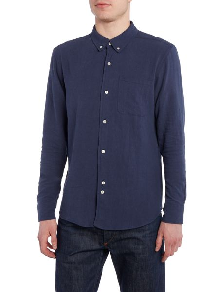 Bellfield Connaught regular fit long sleeve textured shirt