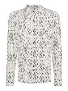Bellfield Idols long sleeve triangle geo print shirt
