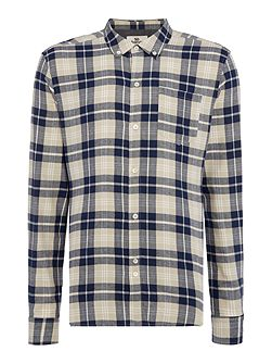 Barrow regular fit long sleeve check shirt