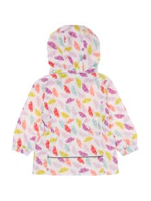 name it Girls Butterfly print hooded Jacket