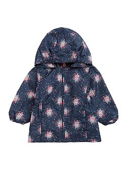 Girls Sprinkle printed hooded Jacket