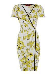 Max Mara Danza floral jersey wrap dress