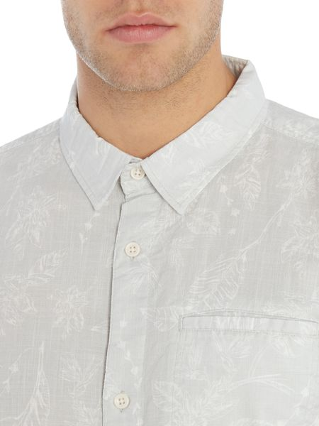 Bellfield Antares regular fit short sleeve floral shirt