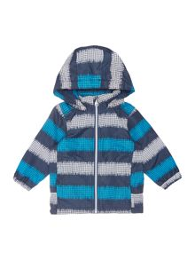 name it Boys Sketchy stripe print jacket with hood