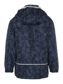 name it Boys Geo shape printed jacket with hood
