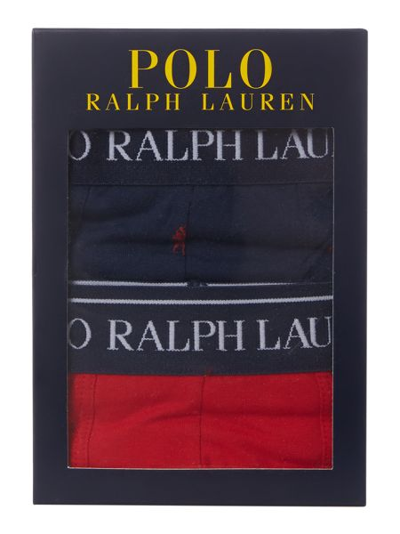 Polo Ralph Lauren 2 pack solid and pony print trunks