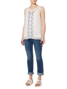 Linea Weekend Embroidered sleeveless blouse