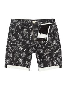 Bellfield Shimpling turn up floral print short