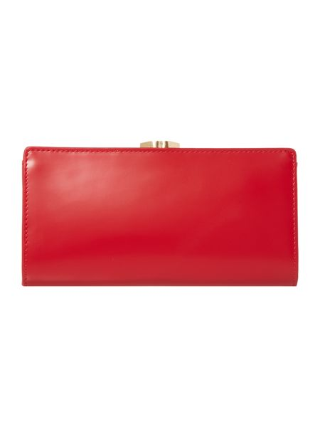 Lulu Guinness Red large frame purse