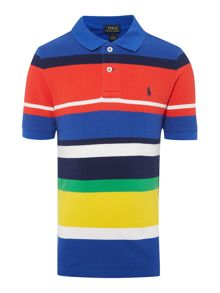 Polo Ralph Lauren Boy`s Short Sleeve Stripe Polo