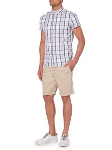 Criminal Tan Check Short Sleeve Shrit