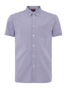 Criminal Pesham Mini Check Short Sleeve Shirt