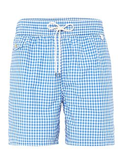 Gingham print Swim shorts