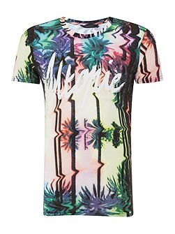Slodet regular fit utopie floral print tee