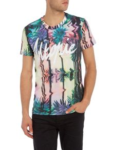 Eleven Paris Slodet regular fit utopie floral print tee
